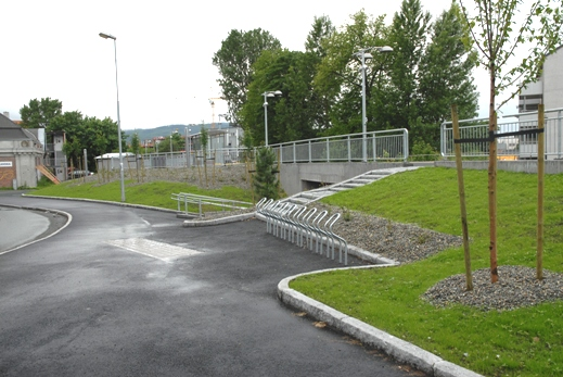 Lilleby holdeplass, adkomst. <strong>Foto: Njål Svingheim</strong>